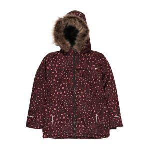 NAME IT Zimní bunda  vínově červená