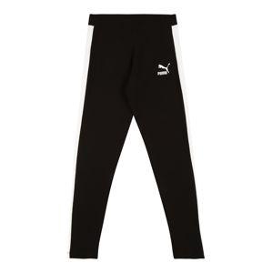 PUMA Sportovní kalhoty 'Classics T7'  černá / bílá