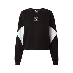 PUMA Sportovní mikina 'Rebel'  černá / bílá