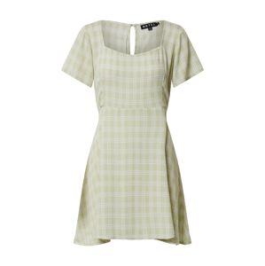 Motel Šaty 'PEKY'  světle zelená / bílá