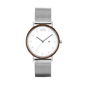 TAKE A SHOT Analogové hodinky 'Margaret'  stříbrná / bílá