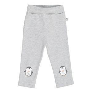BLUE SEVEN Kalhoty  šedý melír / černá / bílá