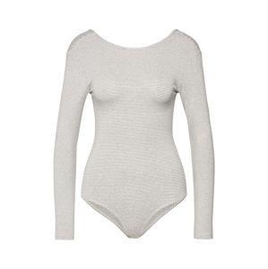 ABOUT YOU Tričko 'Ronja Body'  šedý melír / bílá