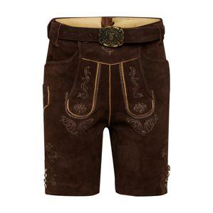 ALMSACH Krojové kalhoty  tmavě hnědá