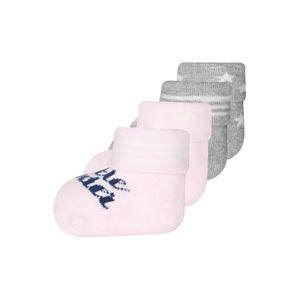 EWERS Ponožky 'Little wonder'  růžová / šedý melír / světle šedá / tmavě modrá