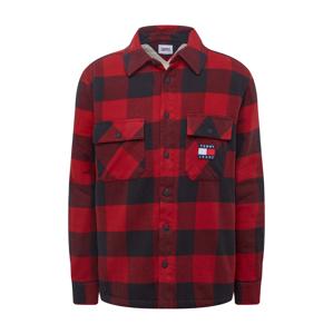 Tommy Jeans Přechodná bunda 'SHERPA'  vínově červená / marine modrá