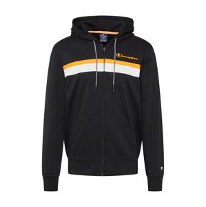 Champion Authentic Athletic Apparel Mikina s kapucí  černá / bílá / oranžová