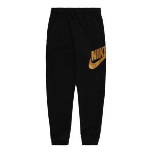 Nike Sportswear Sportovní kalhoty  černá / zlatá