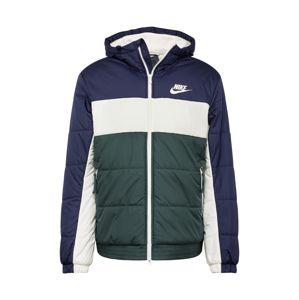Nike Sportswear Zimní bunda 'Syn Fill'  tmavě modrá / jedle / bílá