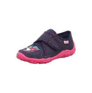 SUPERFIT Pantofle 'BONNY'  modrá džínovina / bílá / pink / zelená / růže