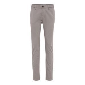 TOM TAILOR Chino kalhoty 'canvas chino w patched pockets Trousers 1/1'  šedá