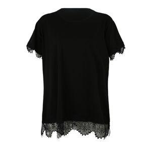 New Look Curves Tričko  černá