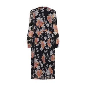 VERO MODA Letní šaty 'Maise'  šedá / pastelová fialová / tmavě oranžová / černá