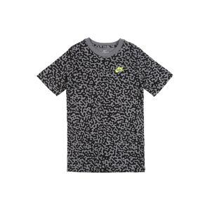 Nike Sportswear Tričko 'MEZZO'  černá / šedá