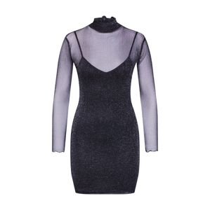 Worst Behavior Šaty 'Jetback glitter Dress'  černá