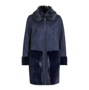 VILA Zimní kabát 'VILONIA FAUX SHERLING JACKET'  námořnická modř