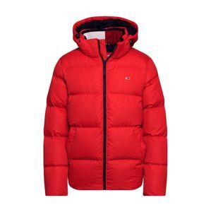 Tommy Jeans Zimní bunda 'ESSENTIAL'  červená / námořnická modř / bílá