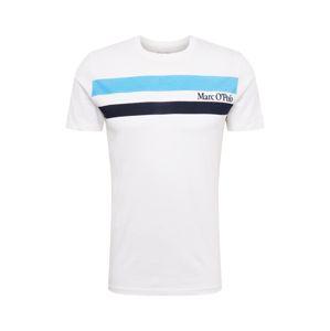 Marc O'Polo Tričko  modrá / bílá