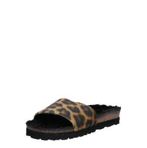 espadrij l´originale Pantofle 'PLAGETTE LEOPARD'  černá / hnědá