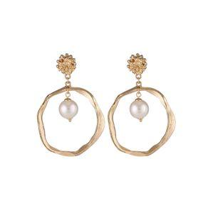 We Are Flowergirls Náušnice 'Ocean Pearl Earrings'  zlatá