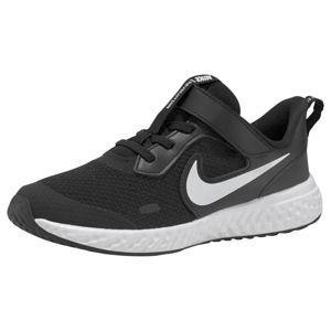 NIKE Sportovní boty 'Revolution 5'  černá / bílá