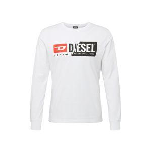 DIESEL Tričko 'T-Diego'  bílá / černá / červená
