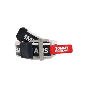 Tommy Jeans Opasek  černá / bílá / červená