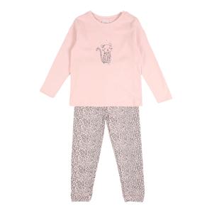 STACCATO Pyžamo  růžová / černá / tmavě šedá