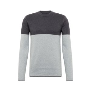 BURTON MENSWEAR LONDON Svetr 'tate colourblock charcoal grey'  šedá