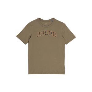 Jack & Jones Junior Tričko 'ROSSING'  olivová / námořnická modř / oranžová