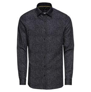 OLYMP Košile 'No. 6'  antracitová / čedičová šedá