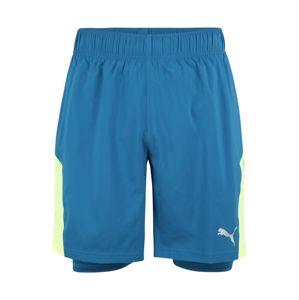PUMA Sportovní kalhoty  zelená / modrá