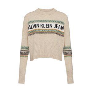 Calvin Klein Jeans Svetr 'REVERSE FAIRISLE SWEATER'  béžová