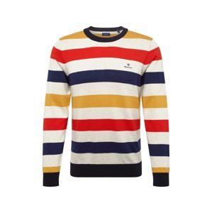 GANT Svetr 'D1. MULTI COLORED STRIPE CREW'  námořnická modř / tmavě žlutá / oranžově červená