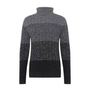 JOOP! Jeans Svetr 'Lumos'  černá / šedý melír / tmavě šedá