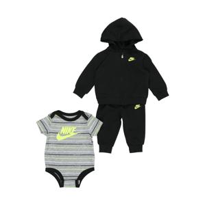 Nike Sportswear Sada  černá / šedý melír / svítivě zelená