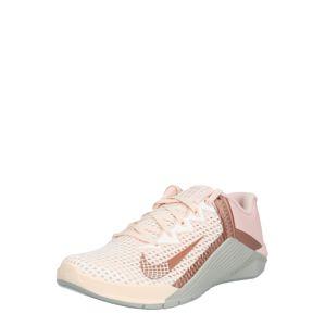 NIKE Sportovní boty 'Metcon 6'  pastelově oranžová / rezavě červená