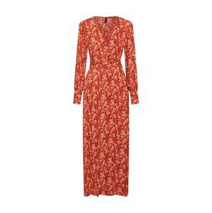 Y.A.S Letní šaty  mix barev / oranžově červená
