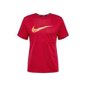 NIKE Funkční tričko 'Breathe'  tmavě červená / oranžová