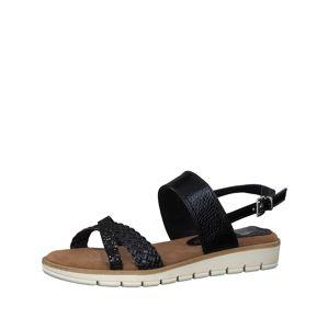 MARCO TOZZI Páskové sandály  námořnická modř