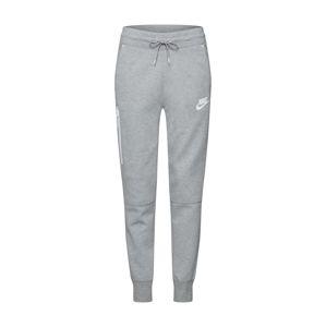 Nike Sportswear Kalhoty  šedá / bílá