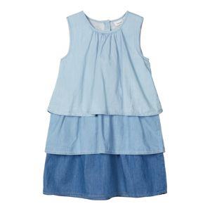 NAME IT Šaty  pastelová modrá / modrá džínovina