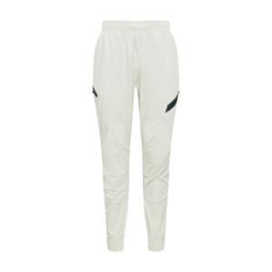 UNDER ARMOUR Sportovní kalhoty 'Project Rock Unstoppable'  bílý melír / černá