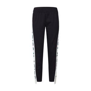 Juicy By Juicy Couture Kalhoty 'Side Panel Terry Track'  černá / bílá