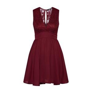 TFNC Koktejlové šaty 'NORDI MINI'  burgundská červeň