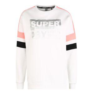 Superdry Mikina  černá / bílá / stříbrná / korálová