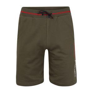 Tommy Hilfiger Underwear Kalhoty 'LWK'  tmavě zelená / bílá / červená
