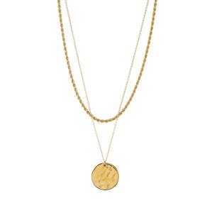Orelia Řetízek 'Rope and Coin 2'  zlatá