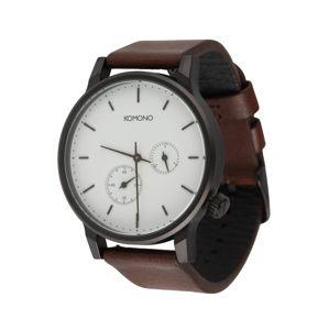 Komono Analogové hodinky 'WINSTON DOUBLE SUBS'  hnědá