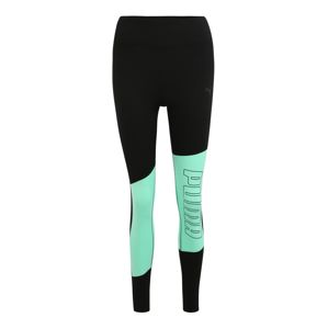 PUMA Sportovní kalhoty  mátová / černá